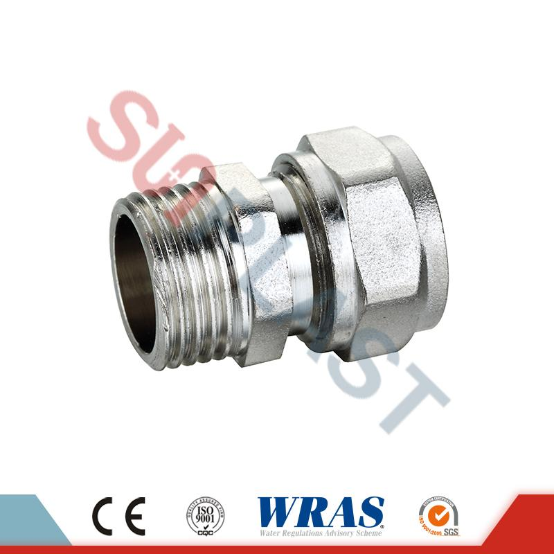 Brass Compression Male Coupling Untuk Pipa Multilayer PEX-AL-PEX
