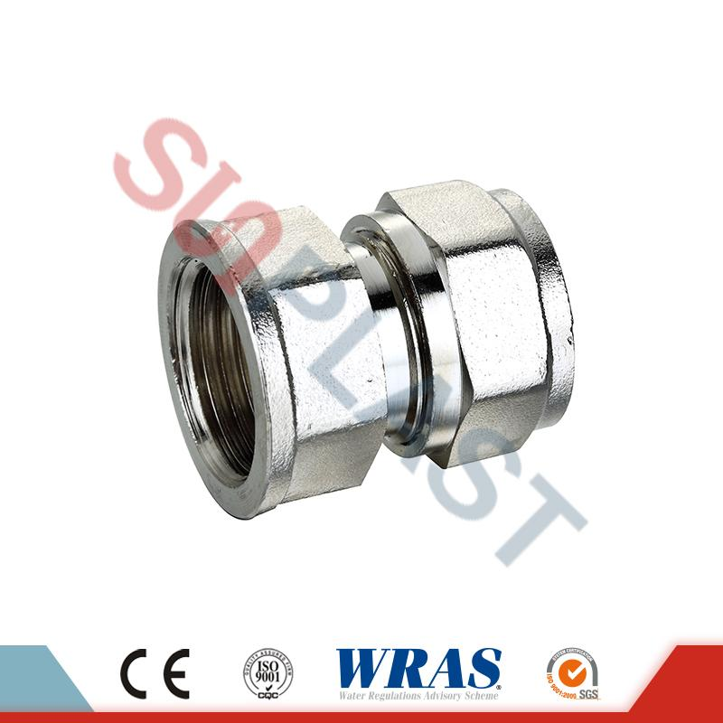 Brass Compression Female Coupling Untuk Pipa Multilayer PEX-AL-PEX