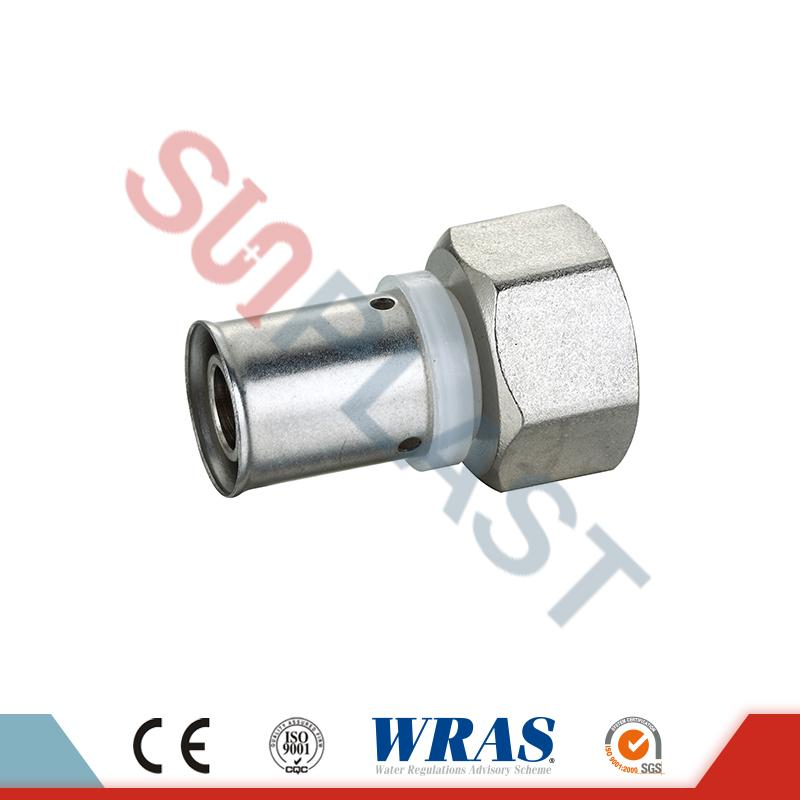 Brass Press Female Coupling Untuk Pipa Multilayer PEX-AL-PEX
